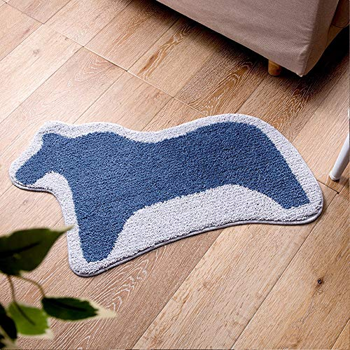 Ping Bu Qing Yun Floor mat - Polyester fiber fabric, soft and skin-friendly, absorbent, non-slip, no lint, fashion animal environmentally friendly household bathroom, bathroom door, absorbent non-slip