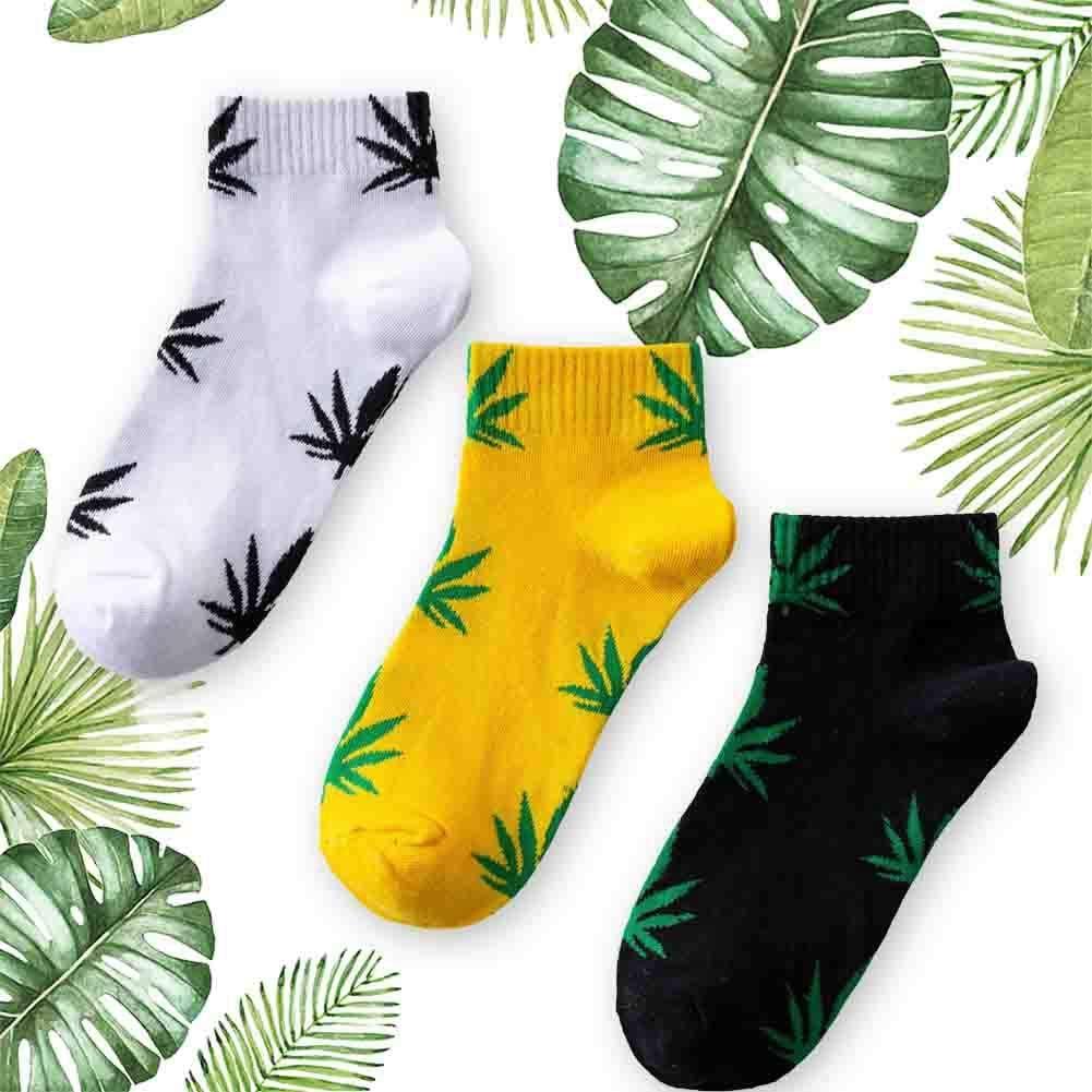 tealn Mens Cotton Socks Fashion Marijuana leaf Casual Long Weed Sock Marijuana Weed Crew Socks Cotton NEW