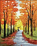 White Birch-DIY oil painting by number kits the Lane with tree picture canvas gift 16x20 inch Frameless offers