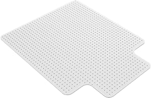 "Homek Office Chair Mat for Carpeted Floors - Clear Carpet Chair Mat with Lip 48""x 36""x 0.08"""