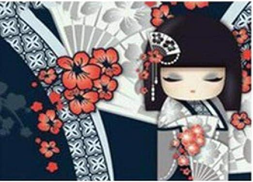 Puzzle 1000 Piezas Para Adultos De Madera Niño Rompecabezas-Flor De Abanico Niña Japonesa-Decoración Para El Hogar Diy Regalo Moderno Festival Juego Intelectual 75X50Cm: Amazon.es: Hogar