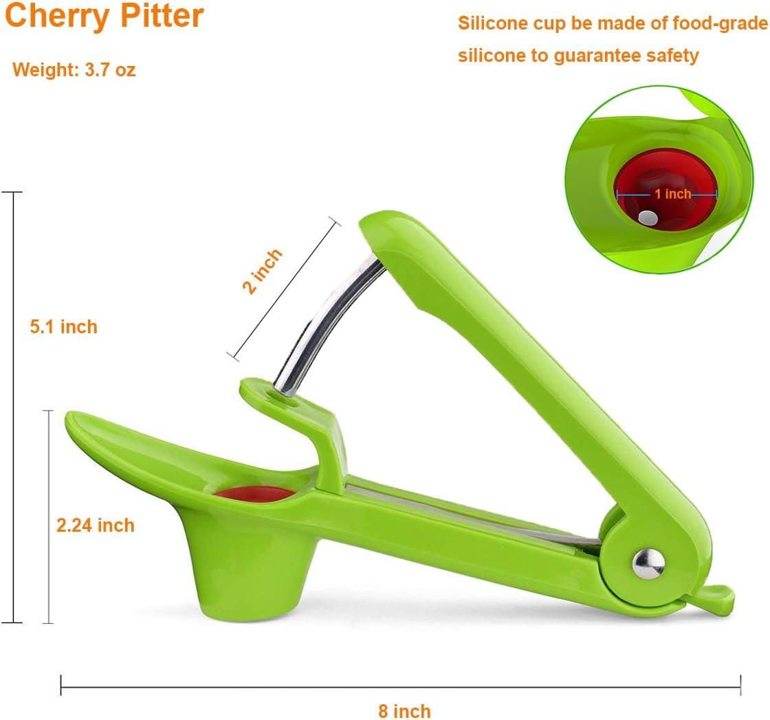 LONJY Cherry Pitter Cherry Stoner Removedor de semillas de cereza y oliva de grado alimenticio con pimienta Corer como regalo