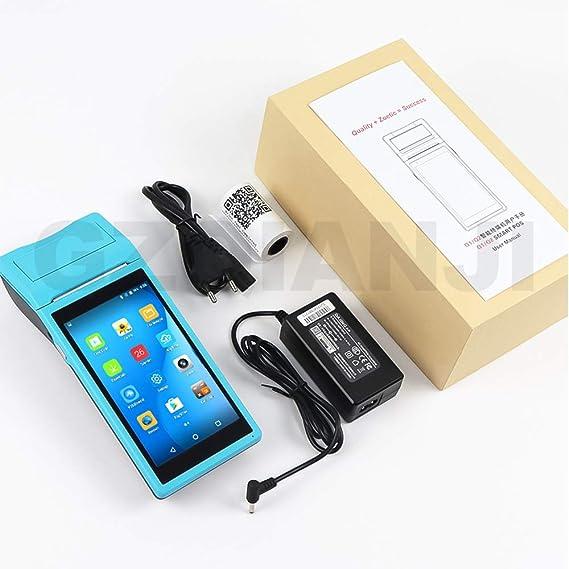 WENHU Dispositivo inalámbrico PDA cammera androide Data Collector portátil TPV Ordenador PDA PDA Recibos térmica 58mm Blurtooth Impresora,B: Amazon.es: Deportes y aire libre