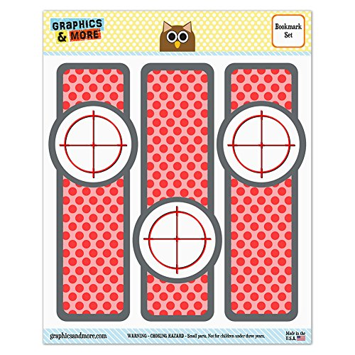 Set of 3 Glossy Laminated Bookmarks - Guns Weapons Military - Sniper Scope Sight (Laminated Target)