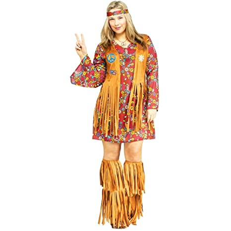 Hippie Costumes, Hippie Outfits Fun World Womens Peace Love Hippie Costume $54.96 AT vintagedancer.com