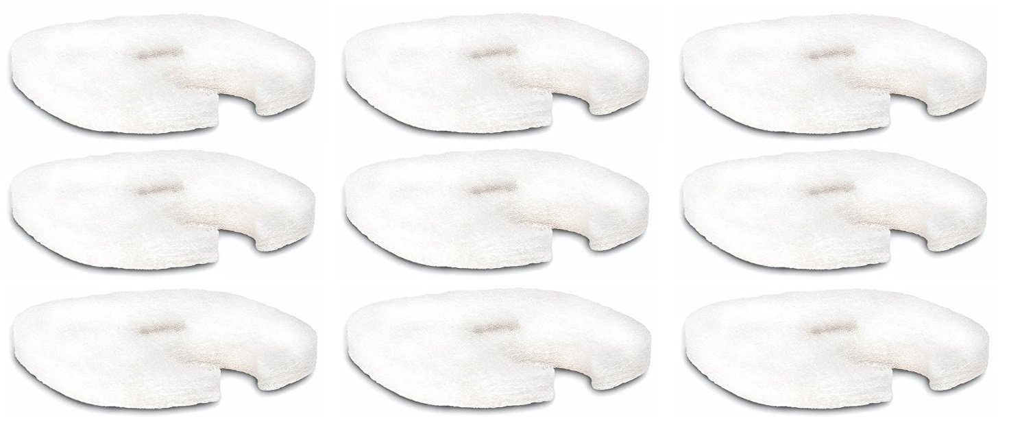 (9 Filters) Replacement White Filter Pads for the Forza Series Canister Filters (FZ9 UV and FZ5)