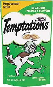 Whiskas Temptations Seafood Medley Cat Treats, 3 oz (Pack of 1)