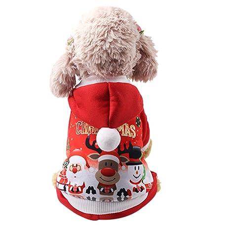 Smoro otoño Invierno Navidad Mascota Cachorro Sudaderas con Capucha Ropa para Perros Traje para Chihuahua Gato