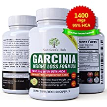 Garcinia Cambogia 95% HCA - Carb Blocker, Appetite Suppressant & Fat Burner