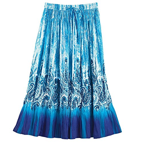 Womens Paisley Waterfall Elastic Plus Size