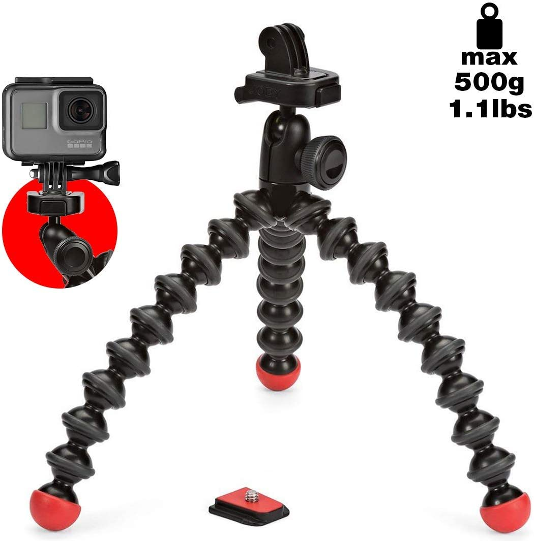 JOBY GorillaPod Action Video Tripod - A Strong, Flexible, Lightweight Tripod for GoPro HERO6 Black, GoProHERO5 Black, GoPro HERO5 Session, Contour and Sony Action Cam
