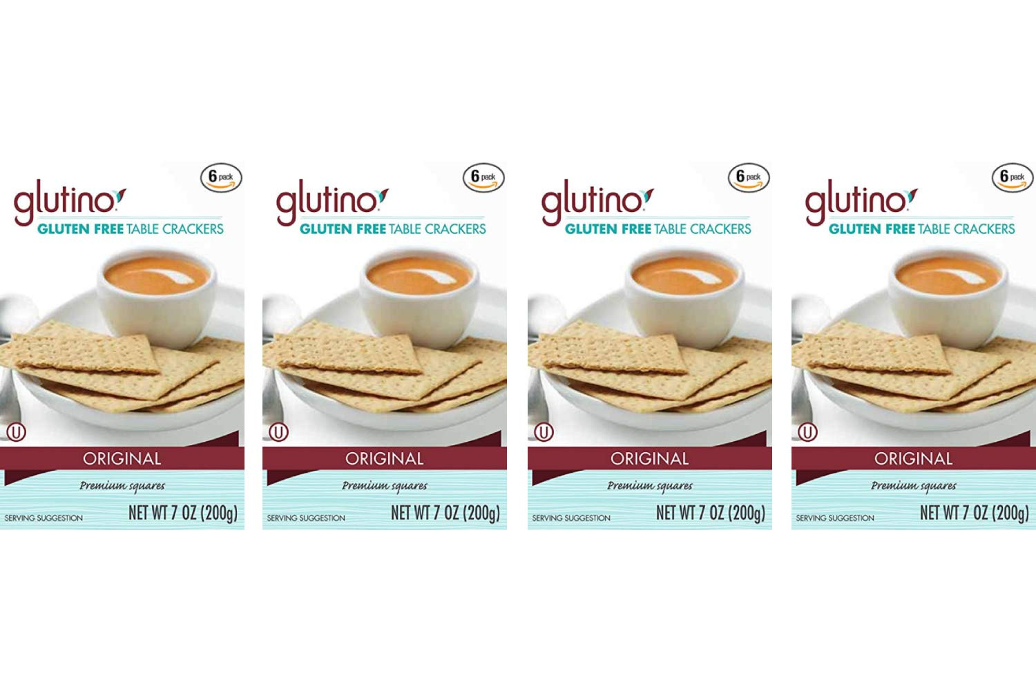 Glutino Crackers, Table, 7-Ounce (Pack of 6) (4 Pack)