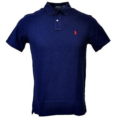 Polo Ralph Lauren Men Slim Fit Mesh Polo Shirt, Navy, Small