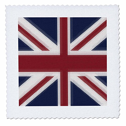 Square Comforter Union (3dRose qs_60594_1 Union Jack UK-Quilt Square, 10 by 10-Inch)