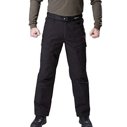 f9728e721 FREE SOLDIER Men's Tactical Cargo Pant Multi-Pockets Casual Military Army  Work Combat Trousers