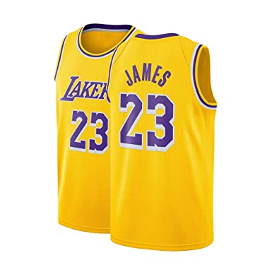 premium selection 9d1c5 eb73e Sdgdga Mens James Jersey 23 Basketball Los Angeles Adult Lebron Gold