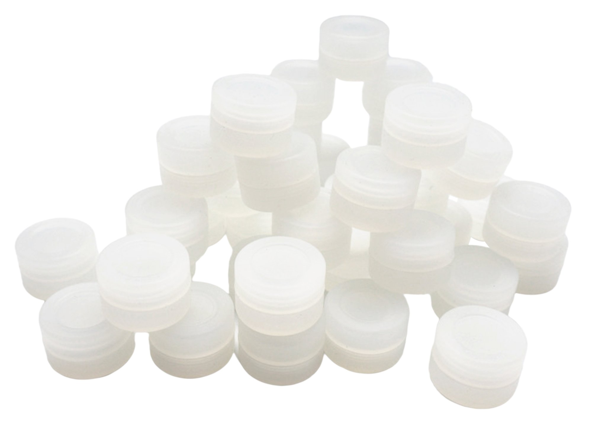 YHSWE 2ml 1000pcs Clear Silicon Containers Storage Jar Seals Oil Wax Concentrate