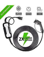 Morec tipo 1 EV cargador ( estándar europeo) Schuko 2 pin ev cable de carga conmutable 10/16A caja de carga SAE J1772 2.2 / 3.6kw, 7.5m / 24.6ft