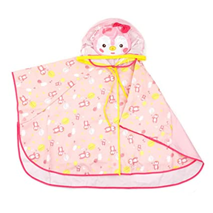 Chaqueta Impermeable Kids Storm Break Patrón de pingüino Rosa Impermeable Niño Poncho con Capucha Verde Sombrero