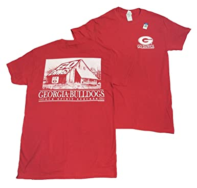 bd50f85fd1b UGA Georgia Bulldogs Barn-Our Spirit Endures T-Shirt-Red-Small ...