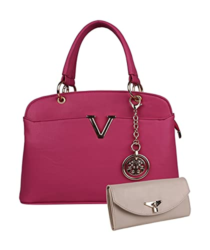 9e9c2a2bd64d8c Women Marks Women's Handbag and Wallet (Pink, Combo of 2): Amazon.in ...