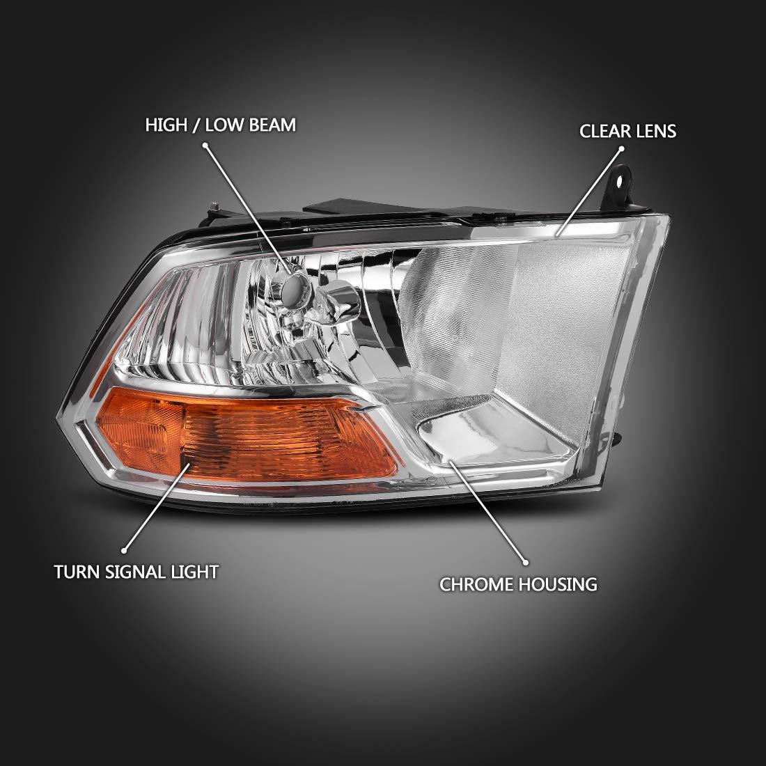 100W Halogen 6 inch 2014 Dodge RAM 1500 QUAD CAB Post mount spotlight -Chrome Passenger side WITH install kit