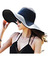 Summer Large Brimmed Hat Sandbeach Sunscreen Straw Hat Cap