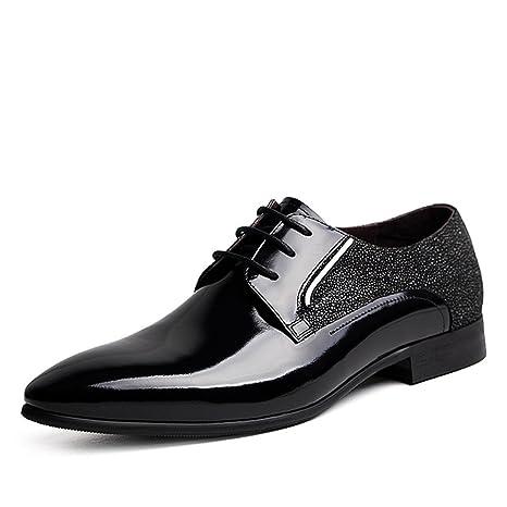 RENHONG True Leather Shoes Uomo Primavera Estate Nero Bianco Moda Comodo Low Top Casual Formale Derby Oxford Mocassini In Pizzo Scarpe Sportive,White…
