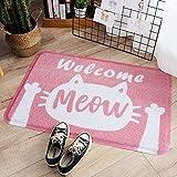 """ChezMax Cute Cat Doormat Rectangle Non-Slip Floor Rug Indoor Outdoor Front Door Mat Carpet Pink 17.7"""" X 29.5"""""""