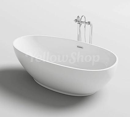 Vasche Da Bagno Design Moderno.Yellowshop Vasca Vasche Da Bagno Freestanding Modello Trend Free Standing Design Moderno Centro Stanza Cm 180x90 Altezza 58