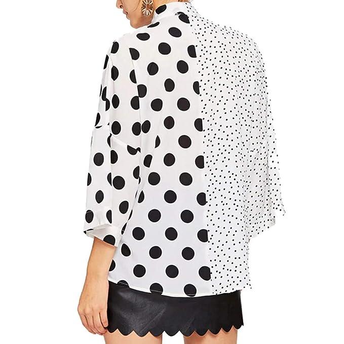 Qingsiy Camiseta de Moda Casual para Mujer con Cuello En V ...