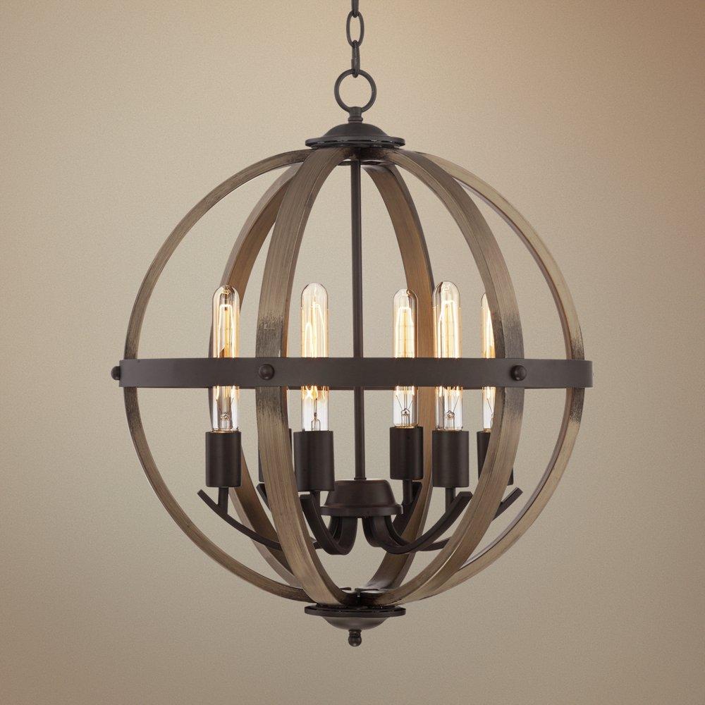 Kimpton 6 light 21 wide dark bronze orb chandelier amazon arubaitofo Image collections