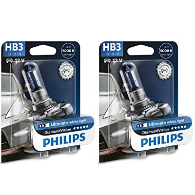 PHILIPS Diamond Vision 9005 HB3 Halogen HID Bulbs (Pack of 2): Automotive