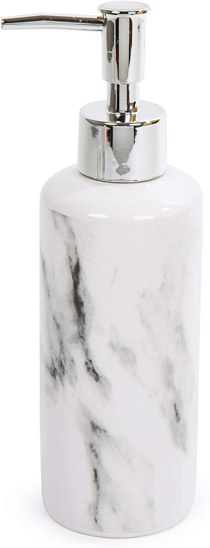 3-Piece Stylish Marble Ceramic Bathroom Accessory Set Bodico Orange 7.5 x 8.25 inches