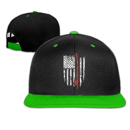 Rock Punk Trucker Hat Fishing American Flag Unisex Baseball Caps Hip-hop  Snapback KellyGreen b3d4acd490c