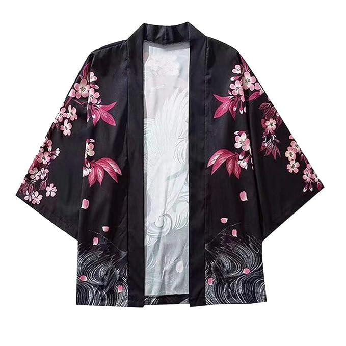 Amazon.com: Forthery Kimono - Cárdigan para hombre, estilo ...