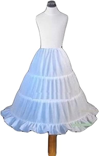 Latest Child Petticoat 3-Hoop Flower Girl Crinoline Party Pageant A-Line Dress
