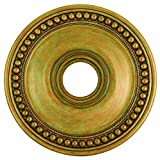 Livex Lighting 82074-48 Wingate Ceiling Medallion, Hand Painted Antique Gold Leaf