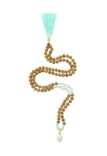 Amazon.com: Aura colores Rudraksha Mala, 108 cuentas 7 mm ...