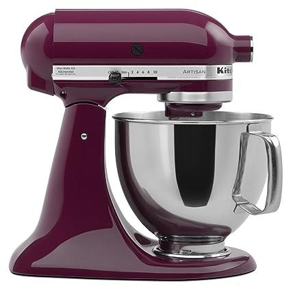 Amazon.com: KitchenAid KSM150PSBY Artisan Series 5-Qt. Stand Mixer ...