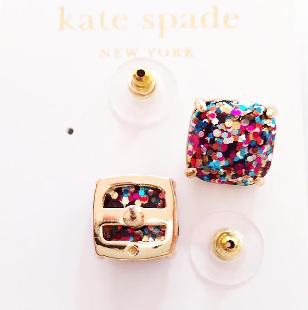 kate spade New York Mini MultiColor Glitter Stud Earrings 12k GP Gold by Kate Spade New York (Image #3)