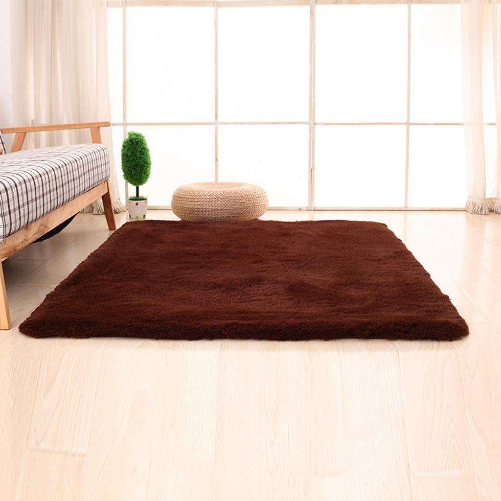 PLY HOME Bathroom Kitchen Living Bedroom Carpet Tiles,Simple Modern Silk Hair Living Room Bedroom Bedside Mat Non-Slip Carpet Rectangular Coffee Table Carpet (Color : O, Size : 40604.5cm)