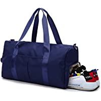 DOURR Gym Bag Large Capacity Sports Duffle Bag with Wet Pocket and Shoes Compartment for Travel Swim Sports Weekend Luggage (Blue)