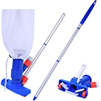 PoolSupplyTown Pool Spa Jacuzzi Pond Mini Jet Vac Vacuum Cleaner w/Brush, Bag, and 4' Pole