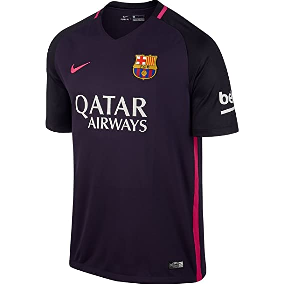 c7ad6f9c2 Amazon.com   2016-17 Barcelona with Sponsor Away Football Soccer T-Shirt  Jersey - (Kids) (Lionel Messi 10)   Clothing