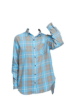 d1ceff57 Ralph Lauren Denim & Supply Button-Down Flannel Shirt at Amazon Women's  Clothing store: