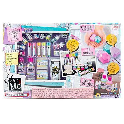 Project Mc2 Ultimate Spa Studio Stem Science Cosmetic Kit by Horizon Group USA, Make Your Own Crystal Soaps,5 DIY Lip Balms & Fragrant Body Lotions, Choose Between 6 Scents & More, Multicolored ()