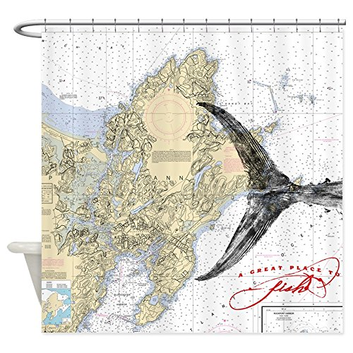 CafePress Nautical chart / fish shower curtain - Decorati...