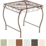 CLP Gracieuse Table de jardin en fer forgé ZARINA, Table de bistrot au style nostalgique, dimensions: 49 x 45, marron antique
