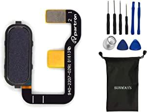sunways Fingerprint Touch ID Button Flex Cable Replacement for Asus Zenfone 3 Ultra ZU680KL(Blue)
